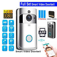 Wireless WiFi Video Doorbell Phone Bell Ring Intercom IR Security HD Camera