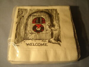 Vintage 1971 Pack Beach Products The Country Mouse 20 Napkins Welcome Christmas