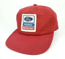 Vintage Trucker Hat Ford New Holland Snapback K Products Patch Rare Red USA