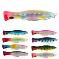 1pc Big Mouth Popper Lure Top Water Fishing Lure 12cm Trolling 40g Bait Gam I9K2