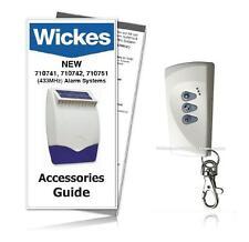 Wickes Alarms Remote Control 710745 / NEW SAR E 433Mhz (INC NEW GUIDE)