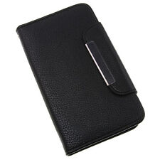 HTC One Mini M4 Black Clip Book / Wallet Case With Card Slots