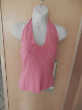 NWT KENNETH MILLER  PINK  HALTER TO W/ BEADING SZ LARGE