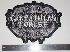CARPATHIAN FOREST faux leather / embroidered back patch