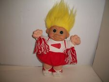 """Troll Doll, Cheer Leader, Russ Berrie, Soft & Cuddly, Collectible, - 12"""""""