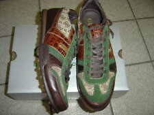 """NEW MENS GUESS BROWN/GREEN LEATHER """"TRIST"""" SNEAKERS SIZE 11 M  $140"""