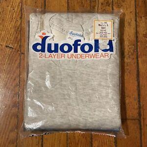 NOS 70s Vintage Duofold Mens 2 Layer Underwear Thermal Shirt Wool XXL 2XL USA 76