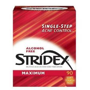 Stridex Medicated Acne Pads, Maximum Strength, 90 Ct, BEST PRICE