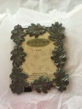 New Sonoma Photo Picture Frame 4 x 6  Fall Leaves Super Cute