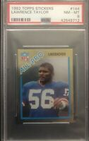 1982 Topps Lawrence Taylor Rookie Sticker #144 Graded PSA 8 NM-MT