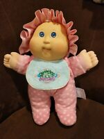 Cabbage Patch Doll Babyland Kid Hasbro 1988 Vintage Pink Dot Sleeper Blue Bib