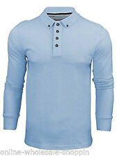 Mens Shirt Brave Soul Long Sleeve Button Collar Cotton Polo Casual Fit T-Shirt