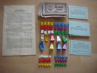 Waddingtons Mine A Million Board Game Spare Playing Pieces / Parts  Instructions