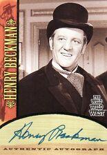 Wild Wild West Season 1 Henry Beckman as Governor Bradford A11 Auto Card
