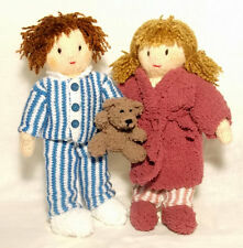 Time For Bed Jesse and Josie dolls Knitting Pattern