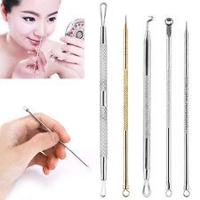 5 Pcs Pimple Blemish Blackhead Comedone Acne Extractor Remover Tool Needles Set