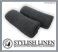 Bath Towels Pieces Set 100% Egyptian Cotton 650GSM New 2 PieceTowel Set Charcoal