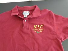 USC TROJANS Football 1996 ROSE BOWL Vintage Polo Shirt MEDIUM Free Ship FIGHT ON