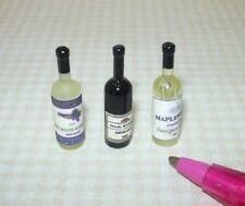 Miniature Wine Bottle Assortment #1 for DOLLHOUSE, 1:12 Scale Miniatures