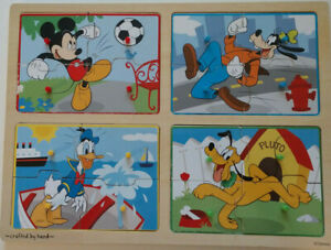 Mickey Mouse & Friends. My first wooden peg puzzle. Melissa & Doug  7474