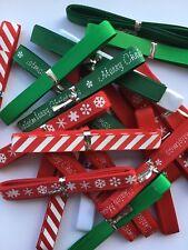12 Bertie's Bows Mixed Christmas Ribbon Bundle Crafts 9mm x 1metre