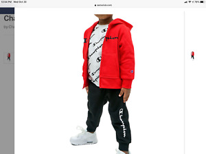 New Boy's Red Champion 3pc Hoodie Track suit size 2T