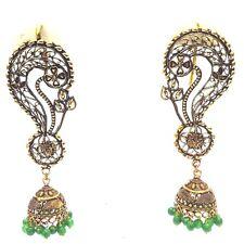 EAR CUFF Golden Oxidized Earring Jhumka Jhumki Ethnic Jewelry Long Dangle AE18