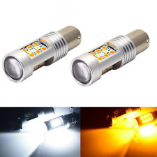 2pcs High Power 1157 Dual-Color Switchback 28-SMD LED Turn Signal Bulbs HS