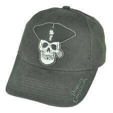 Disney Pirates Of The Caribbean Dead Mans Chest Skull Movie Grey Hat Cap