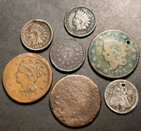 Us Coin Type Lot Large Cents Classic Head Shield Nickel Indian Head Cents ETC