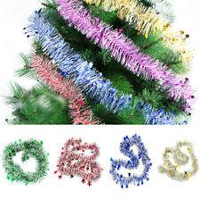 Fiesta Navideña Árbol de navidad adornos colores guirnalda Espumillón Colgante