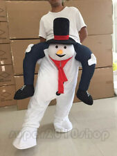 Parade Costumes Snowman Mascot  Adult Carry Ride On Back Xmas Dress Outfits 2018