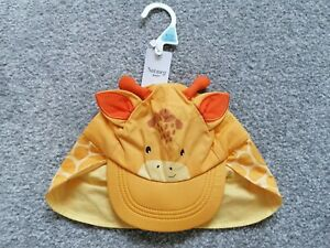 Baby Boys Unisex Summer Hat Cap Giraffes Nutmeg 6-12 Months