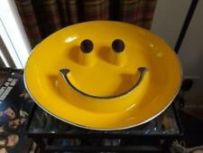 """Smiley Happy Face Emoji Serving Bowl 14"""" Wide 2.5"""" Deep"""