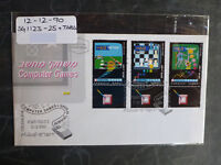 1990 ISRAEL COMPUTER GAMES SET 3 STAMPS W/- TAB FIRST DAY COVER