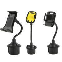 FJ- Car Mobile Phone Tablet GPS Cup Holder Mount Bracket with Flexible Long Arm