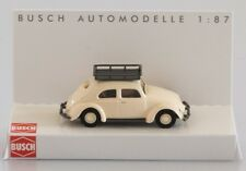 BUSCH HO scale - VW BEETLE in white - 1/87 fully assembled plastic model