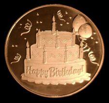 1 oz Copper Round - Happy Birthday