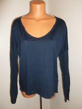 Jansport S-M navy blue lightweight high low long sleeve shirt