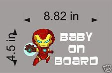 Ironman Baby on Board / Avengers / Vinyl Vehicle Graphic Kids Decal Sticker