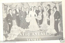 ANTIGUA POSTAL RECUERDO PATIO ANDALUZ . SEVILLA . FLAMENCO OLD POSTCARD  CDCP184