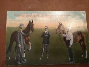 2 fastest horses in the world New York State Fair Syracuse postcard