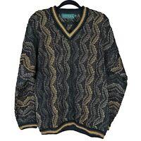 Tundra Canada Mens Cosby Hip Hop Biggie Textured Sweater Size Medium
