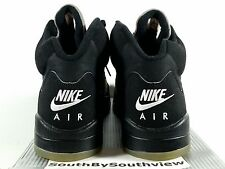 Nike Air Jordan 5 Black Metallic Silver 2000 Size 12 Retro V 1999 136027-001