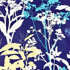 1076. BLUE FIELD FLOWERS 100% Cotton Fabric. Extra wide - 220cm