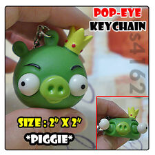 Angry Bird Style Eye Popping Bad Piggie Stress Relief Fun Holiday Keychain Toy