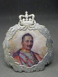 Christbaumschmuck Pappe Kaiser Wilhelm Oblate Orden 1WK 1910 Patriot