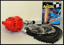 FORD 289 302 HEI DISTRIBUTOR & ACCEL STRAIGHT BOOT WIRES 6502-R+5040-K-KIT