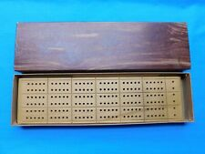 VINTAGE NEW HORN CRIBBAGE BOARD C-39 1941 IN BOX
