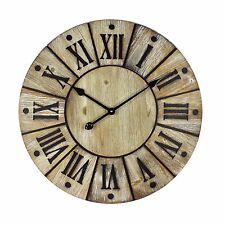 Reloj de pared 60 Cm Grande Shabby Chic/Retro de madera envejecida. acabado. nuevo Y Sellado
